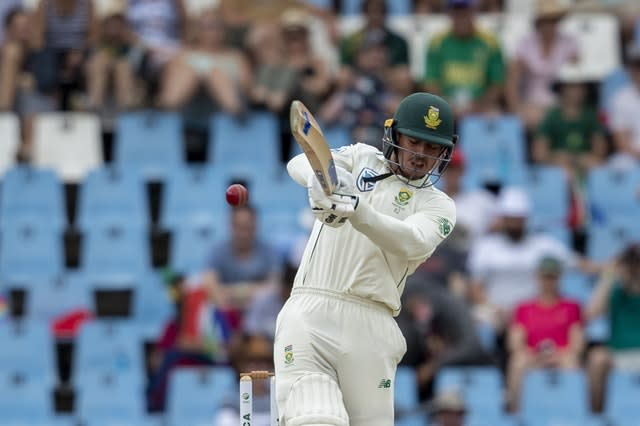 Quinton de Kock played an important part in South Afrcia's first Test victory (Themba Hadebe/AP)