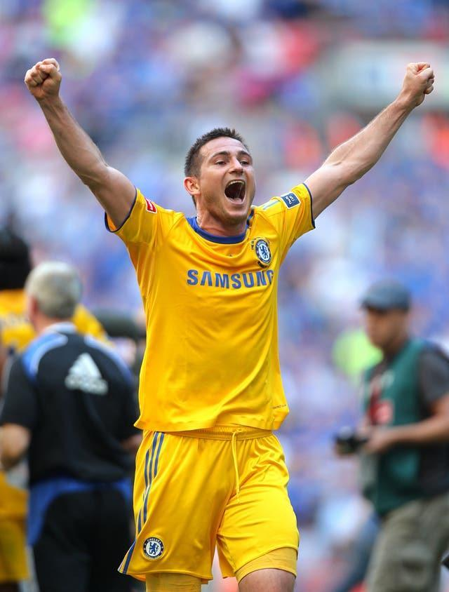 Lampard scored the winning goal when Chelsea reclaimed the FA Cup title against Everton in 2009