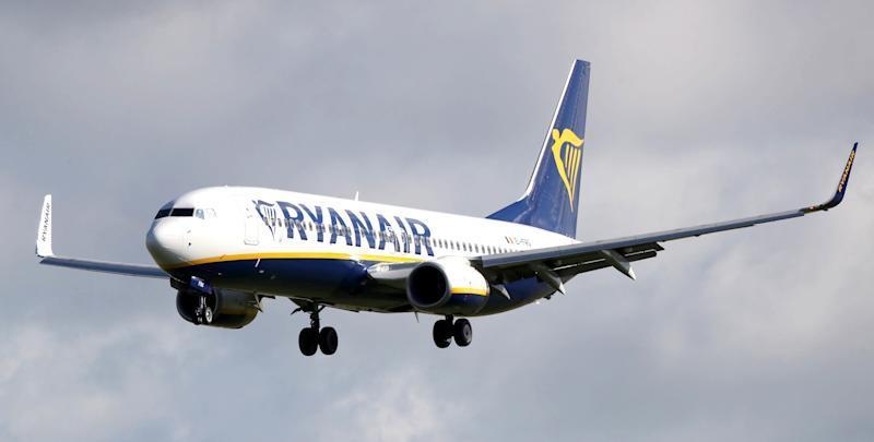 File photo dated 04/10/17 of a Ryanair plane. Ryanair's full year profits have fallen 29% to 1.02 billion euros (�890m), the company said.