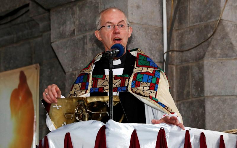 Archbishop of Canterbury Justin Welby attends a special service at the Anglican Church of Kenya in January - Thomas Mukoya/REUTERS