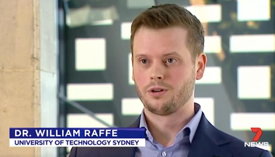 Dr Raffe said there may be ethical implications to developing such an app. Source: 7 News