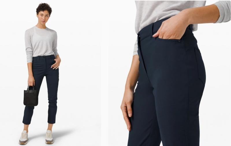 The City Sleek 5 Pocket 7/8 Pant is made of performance fabric to keep you feeling good. (Photo via Lululemon)