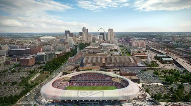 <p>St. Louis's MLS expansion bid has picked up considerable steam, with Don Garber confirming it's one of two, along with Sacramento, in the lead for spots 24-28.</p>