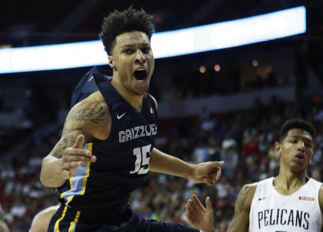 The Grizzlies' 2019 NBA draft haul is looking pretty good between Brandon Clarke and Ja Morant. (AP Photo/John Locher)
