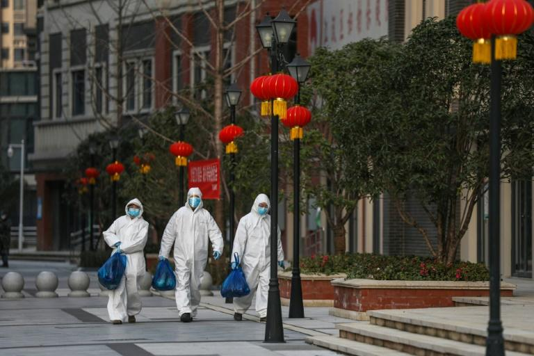 Many residents in the virus-hit city of Wuhan, China, are depending on online group-buying services to get food