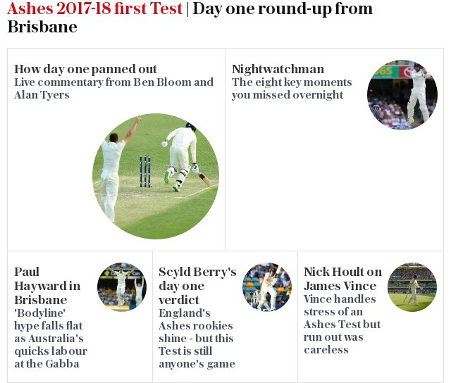 Ashes 2017-18 first Test | Day one round-up from Brisbane