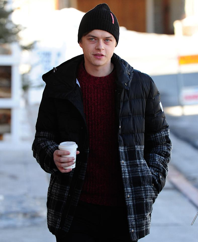 <p>Actor Dane DeHaan bundled up in a puffer coat at the Sundance Film Festival in Park City, Utah, in 2014, well before the trend took off.</p>