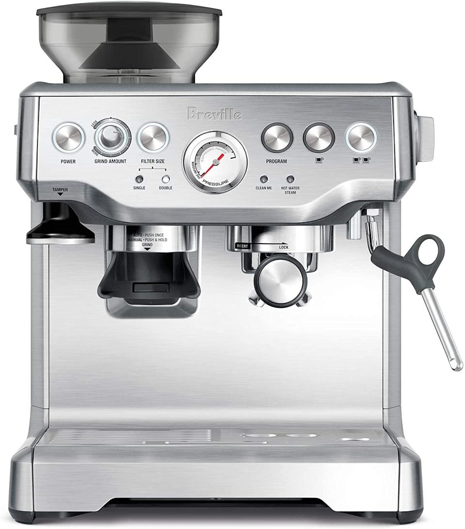 espresso machine with grinder breville