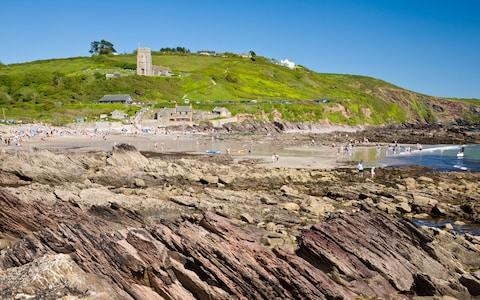This beach near Plymouth is Bill Oddie's favourite spot for rock pooling - Credit: ALAMY