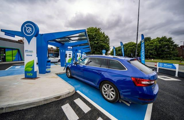 MFG electric vehicle (EV) only forecourt