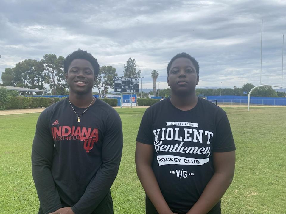 Brothers Deji and Damola Olabode are defensive ends at Reseda.