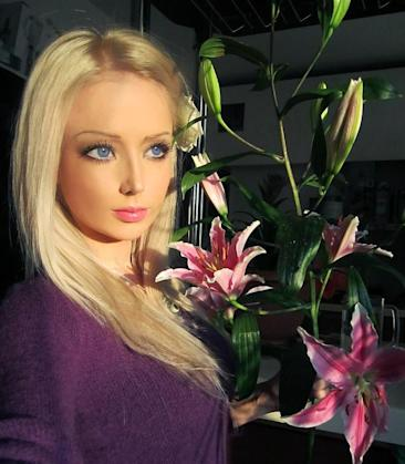 Valeria Lukyanova has been called the real-life Barbie. (Photo from VK)
