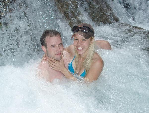 An undated photo of Travis Alexander and Jodi Arias that she posted to her MySpace page. According to the caption, the photo was taken at Havasupai Falls in Arizona.