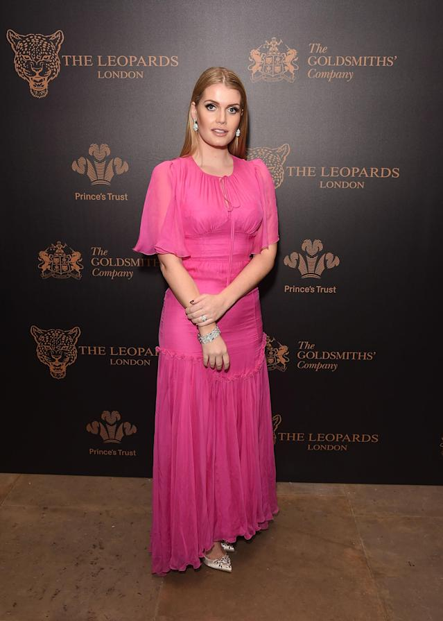 <p>Attending the Leopard Awards, Spencer wore yet another Dolce & Gabbana dress with Bulgari jewelry. (Photo: Getty Images) </p>