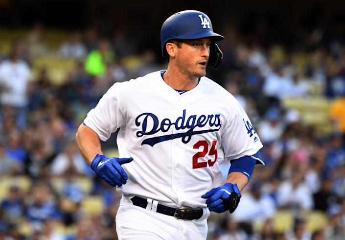 """<a class=""""link rapid-noclick-resp"""" href=""""/mlb/players/8402/"""" data-ylk=""""slk:David Freese"""">David Freese</a> announced his retirement on Saturday afternoon. (Photo by Keith Birmingham/MediaNews Group/Pasadena Star-News via Getty Images)"""