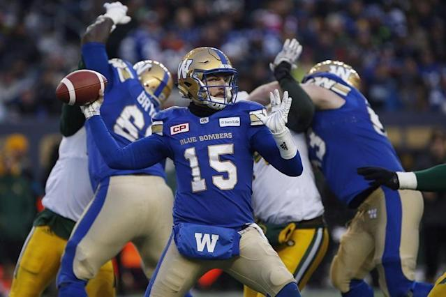 Bombers quarterback Nichols to make his first start of 2018 on Saturday