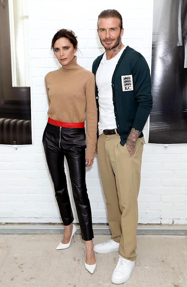 <p>Posh supported her husband at the debut of his new collection for Kent & Curwen at London Men's Fashion Week. Of course, they looked like something out of a magazine. (Photo: Darren Gerrish/Darren Gerrish/WireImage) </p>