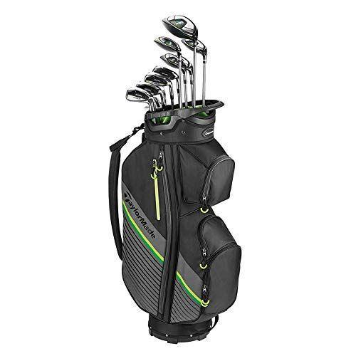 """<p><strong>TaylorMade</strong></p><p>amazon.com</p><p><strong>1299.99</strong></p><p><a href=""""https://www.amazon.com/dp/B08ZKS1W1X?tag=syn-yahoo-20&ascsubtag=%5Bartid%7C2139.g.37065486%5Bsrc%7Cyahoo-us"""" rel=""""nofollow noopener"""" target=""""_blank"""" data-ylk=""""slk:Shop Now"""" class=""""link rapid-noclick-resp"""">Shop Now</a></p><p>This lightweight TaylorMade set has everything you need for speed, and includes 13 pieces: a driver, 3 fairway, 5 fairway, 4 rescue, 5 rescue, 6 iron, 7 iron, 8 iron, 9 iron, a PW, an SQ and a putter.<br></p>"""
