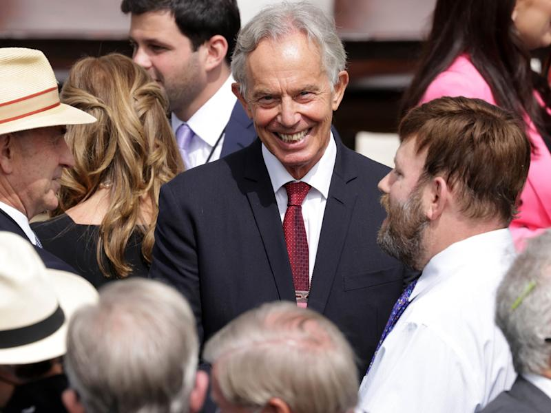 Tony Blair on the South Lawn of the White House on September 15, 2020 before the ceremony (Getty Images)