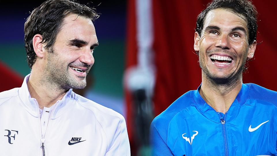 Roger Federer and Rafael Nadal, pictured here at the Shanghai Masters in 2017.