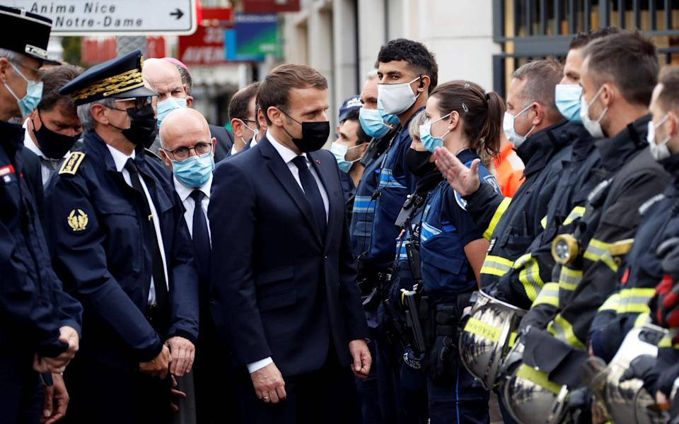 Emmanuel Macron is on the scene  - AFP