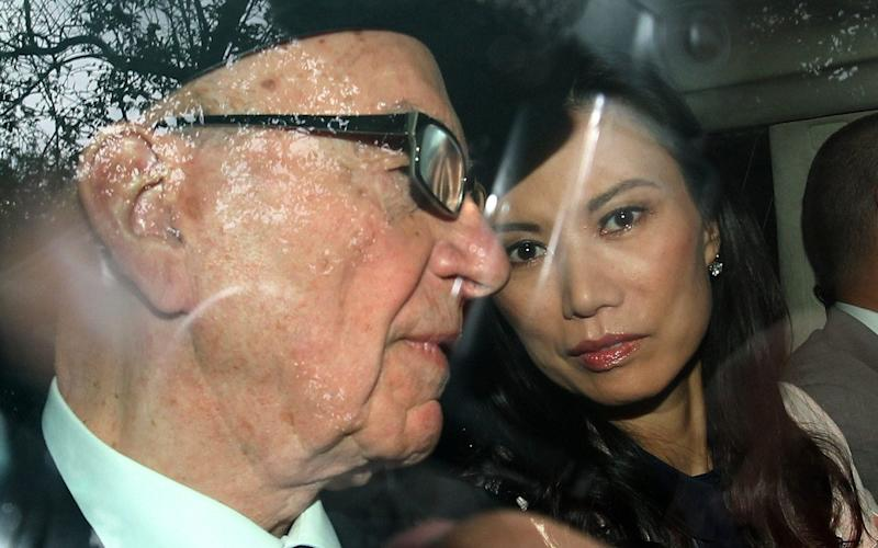 Rupert Murdoch and Wendi Deng in The Rise of the Murdoch Dynasty - BBC