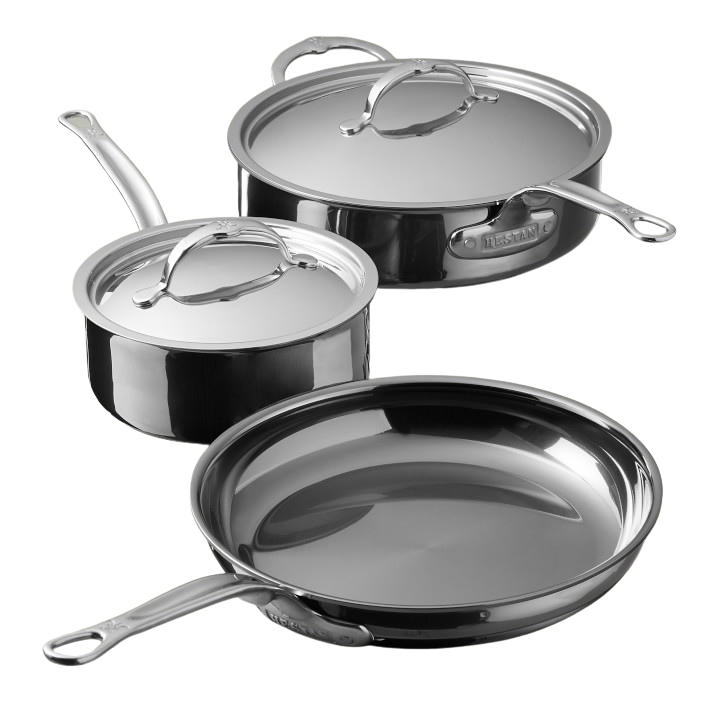 """<p><strong>Hestan</strong></p><p>williams-sonoma.com</p><p><strong>$799.95</strong></p><p><a href=""""https://go.redirectingat.com?id=74968X1596630&url=https%3A%2F%2Fwww.williams-sonoma.com%2Fproducts%2Fhestan-nanobond-stainless-steel-5pc-cookware-set&sref=https%3A%2F%2Fwww.goodhousekeeping.com%2Flife%2Fmoney%2Fg35000690%2Fgh-editors-favorite-products-2020%2F"""" rel=""""nofollow noopener"""" target=""""_blank"""" data-ylk=""""slk:Shop Now"""" class=""""link rapid-noclick-resp"""">Shop Now</a></p><p>It's a bit of an investment set, but online reviewers and our Lab experts say this <a href=""""https://www.goodhousekeeping.com/cooking-tools/cookware-reviews/g5050/best-stainless-steel-cookware-sets/"""" rel=""""nofollow noopener"""" target=""""_blank"""" data-ylk=""""slk:stainless steel cookware"""" class=""""link rapid-noclick-resp"""">stainless steel cookware</a> is worth the hype: """"The skillet is an all-around workhorse,"""" Papantoniou says. """"It <strong>heats super evenly and retains heat well</strong>."""" She adds that the skillet produces a nice sear on proteins and veggies, and yet, is the easiest stainless skillet to clean. </p>"""
