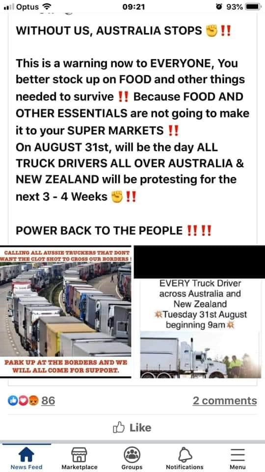 Plans for protests are circulating social media.  Source: Facenook