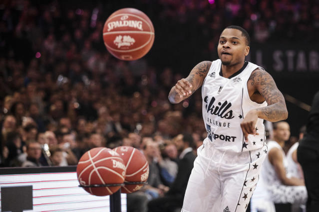 D.J. Cooper was suspended by FIBA in Europe for faking a drug test last year that revealed he was pregnant. (Geoffroy Van Der Hasselt/AFP)
