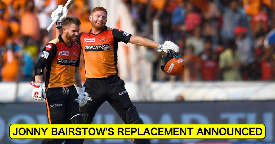 IPL 2021: SunRisers Hyderabad Announce Replacement After Jonny Bairstow Pulls Out Of UAE Leg