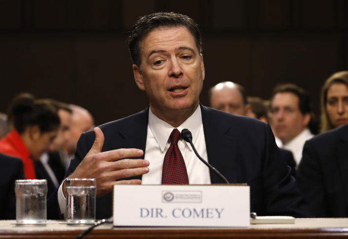 <p>Former FBI Director James Comey testifies before a Senate Intelligence Committee hearing on Russia's alleged interference in the 2016 U.S. presidential election on Capitol Hill in Washington, June 8, 2017. (Photo: Jonathan Ernst/Reuters) </p>