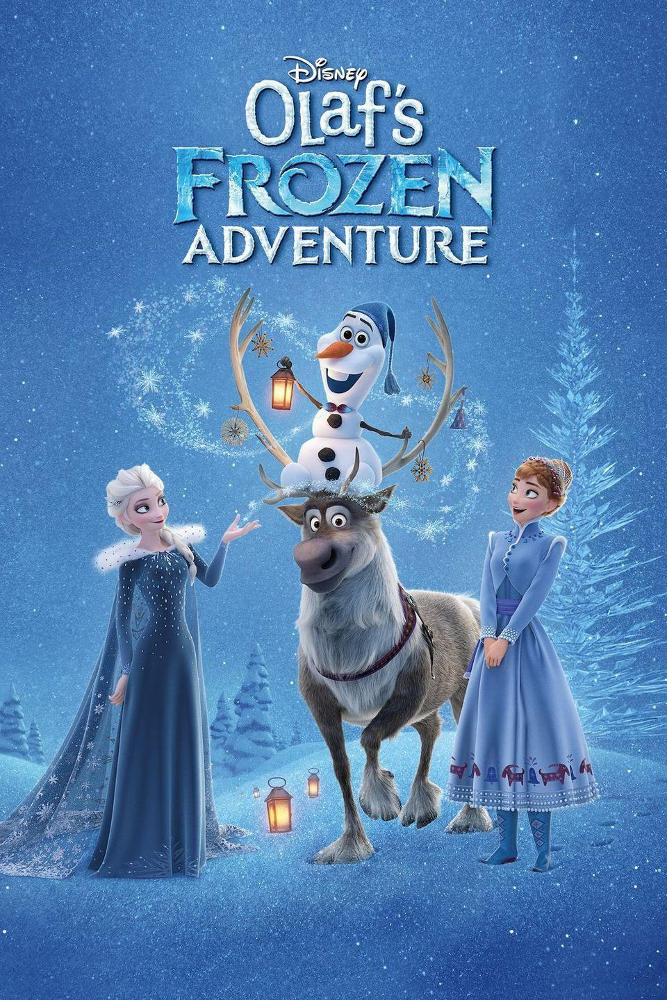 "<p><a class=""link rapid-noclick-resp"" href=""https://go.redirectingat.com?id=74968X1596630&url=https%3A%2F%2Fwww.disneyplus.com%2Fmovies%2Folafs-frozen-adventure%2F5zrFDkAANpLi&sref=https%3A%2F%2Fwww.womansday.com%2Flife%2Fentertainment%2Fg34694772%2Fdisney-christmas-movies%2F"" rel=""nofollow noopener"" target=""_blank"" data-ylk=""slk:STREAM NOW"">STREAM NOW</a></p><p><em>Frozen</em> is always appropriate for winter, but <em>Olaf's Frozen Adventure</em> is even more of a Christmas movie. When Anna and Elsa realize they have no holiday traditions, Olaf decides to save Christmas by finding some of their very own. </p>"