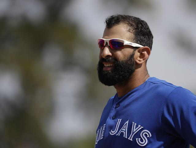 Jose Bautista signed what is essentially a one-year, $18.5 million contract to return to the Blue Jays. (AP)