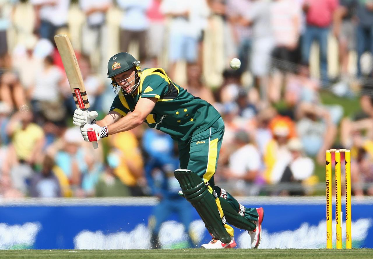 HOBART, AUSTRALIA - JANUARY 23:  David Hussey of Australia bats during game five of the Commonwealth Bank One Day International Series between Australia and Sri Lanka at Blundstone Arena on January 23, 2013 in Hobart, Australia.  (Photo by Robert Cianflone/Getty Images)