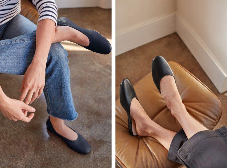 Everlane's new Day Ballet, and Day Mule. (Photos: Courtesy of Everlane)