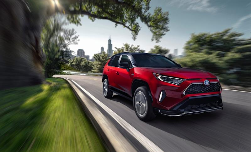 Toyota says its new RAV4 Prime plug-in electric will be the second quickest vehicle in its lineup.
