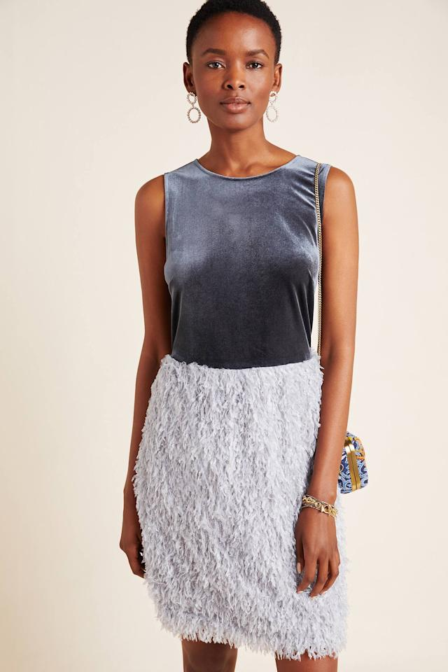 "<p><strong>Sunday in Brooklyn</strong></p><p>anthropologie.com</p><p><strong>$148.00</strong></p><p><a href=""https://go.redirectingat.com?id=74968X1596630&url=https%3A%2F%2Fwww.anthropologie.com%2Fshop%2Fastor-feathered-mini-dress&sref=http%3A%2F%2Fwww.townandcountrymag.com%2Fstyle%2Ffashion-trends%2Fg12139564%2Fwinter-wedding-guest-dresses%2F"" target=""_blank"">Shop Now</a></p><p>Why should fun and flounce be reserved for warm-weather weddings? This velvet-topped dress with a fringe-y skirt is plenty to celebrate over. </p>"