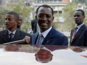 FILE PHOTO: Chad's President Idriss Deby gets in his car during African Union Summit in United Nations office in Addis Ababa aba