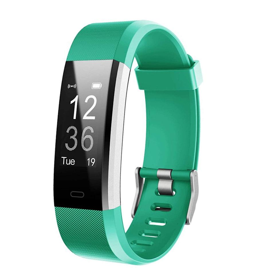 """<h2>Best Budget<br></h2><br><h3>Lintelek Fitness Tracker with Heart Rate Monitor</h3><br>A fitness tracker for under $30? It's not too good to be true. This amazing Amazon find is similar in appearance and functions to Fitbit's Charge, but at a fraction of the price tag. No wonder it's racked up over 26,000 reviews — and counting.<br><br><strong>Lintelek</strong> Fitness Tracker with Heart Rate Monitor, $, available at <a href=""""https://amzn.to/3hqwKQL"""" rel=""""nofollow noopener"""" target=""""_blank"""" data-ylk=""""slk:Amazon"""" class=""""link rapid-noclick-resp"""">Amazon</a>"""