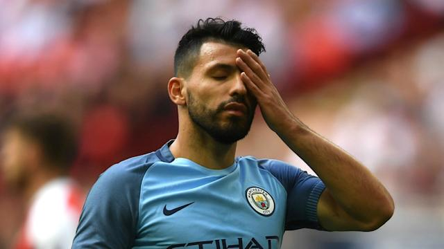 Bad luck has contributed to Manchester City's failure to win a trophy in Pep Guardiola's first year in charge, believes Sergio Aguero.