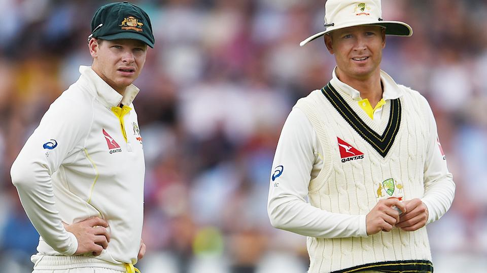 Michael Clarke and Steve Smith, pictured here during the 2015 Ashes series.