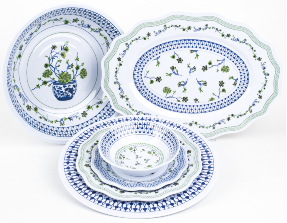 Fabulous Green Blue White Melamine Collection (Photo: The Enchanted Home)