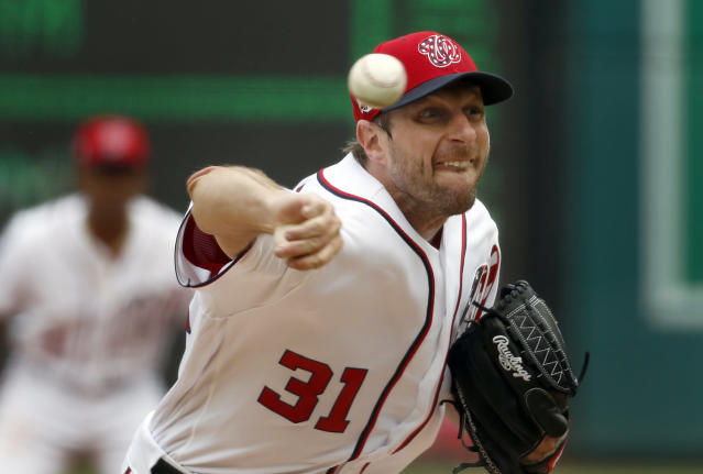 Max Scherzer is on his way to another dominant season. (AP Photo)