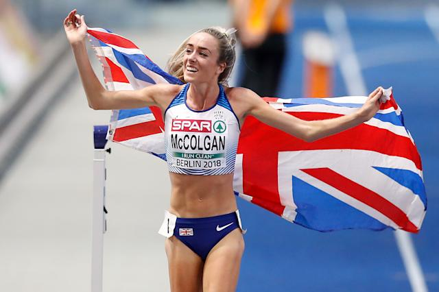 Eilish McColgan took a screen shot of the body shaming comments she received. (Credit: Getty Images)
