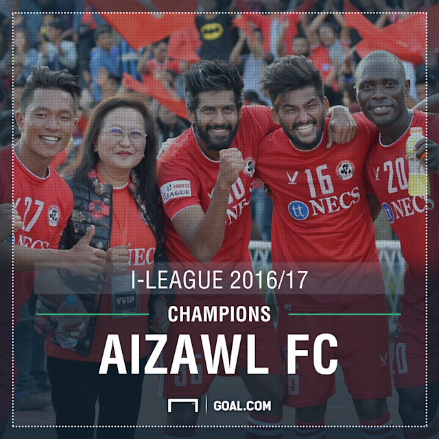 Aizawl I-League 2017 Champions PS