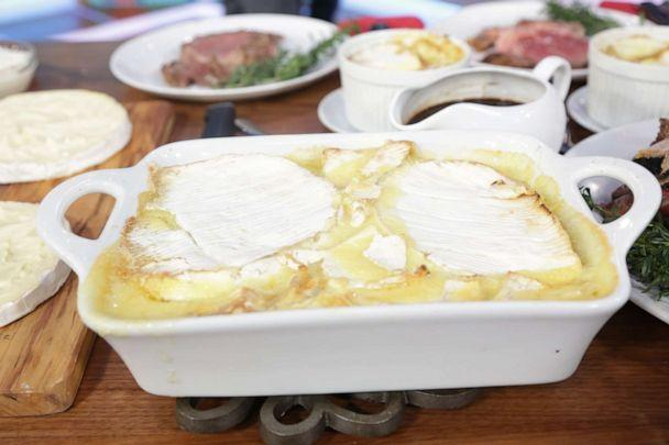 PHOTO: Chef Angie Mar's Tartiflette with Marrow-Roasted Onions, Sage, and D'affinois (ABC)