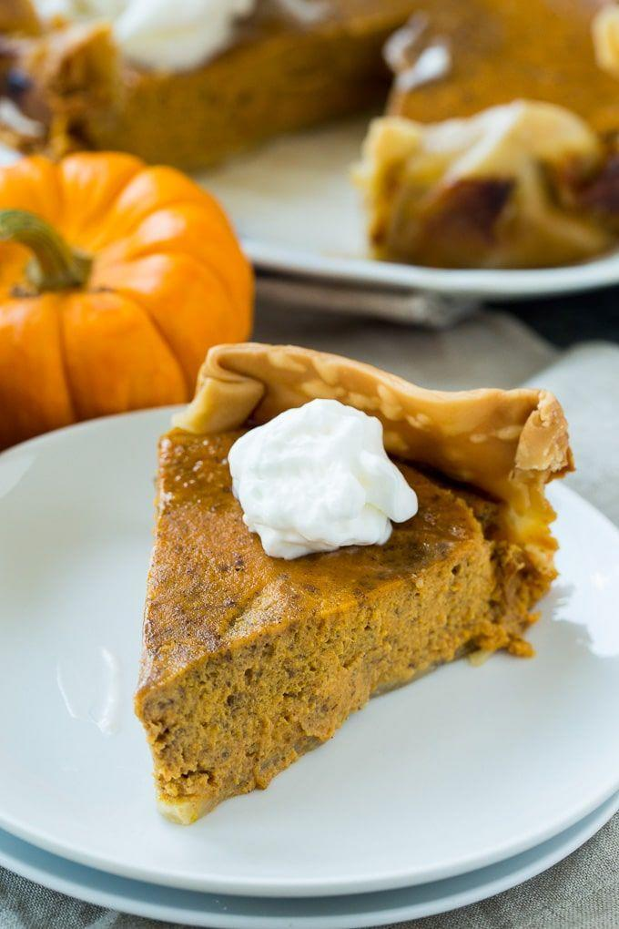 """<p>Make everyone's favorite Thanksgiving dessert with ease by baking it in a slow cooker. The results are just as delicious as the traditional version.</p><p><strong>Get the recipe at <a href=""""https://spicysouthernkitchen.com/crock-pot-pumpkin-pie/"""" rel=""""nofollow noopener"""" target=""""_blank"""" data-ylk=""""slk:Spicy Southern Kitchen"""" class=""""link rapid-noclick-resp"""">Spicy Southern Kitchen</a>.</strong> </p>"""