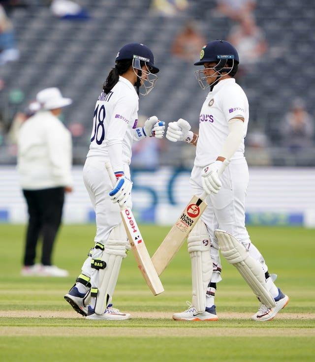India's Smriti Mandhana (left) and Shafali Verma put on 167 for the first wicket