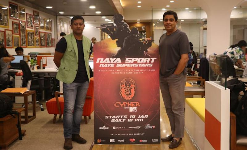 Supratik Sen and Ronnie Screwvala, the co-founders of U Sports, which has started U Cypher