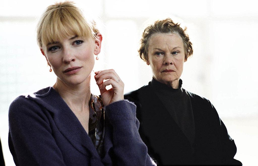 "<a href=""http://movies.yahoo.com/movie/1809233724/info"">Notes on a Scandal</a> (2006): Blanchett and Judi Dench are both so exceedingly skilled, you could just turn on the camera and let them go to work; both women received Oscar nominations for the film. Their scenes together percolate with tension, with Dench as a lonely teacher who manipulates Blanchett as the school's new art instructor. It's a classier version of ""Single White Female,"" but Blanchett finds subtlety in the role as a woman filled with insecurity who makes one bad choice after another. An affair with a teenage student is only the beginning."